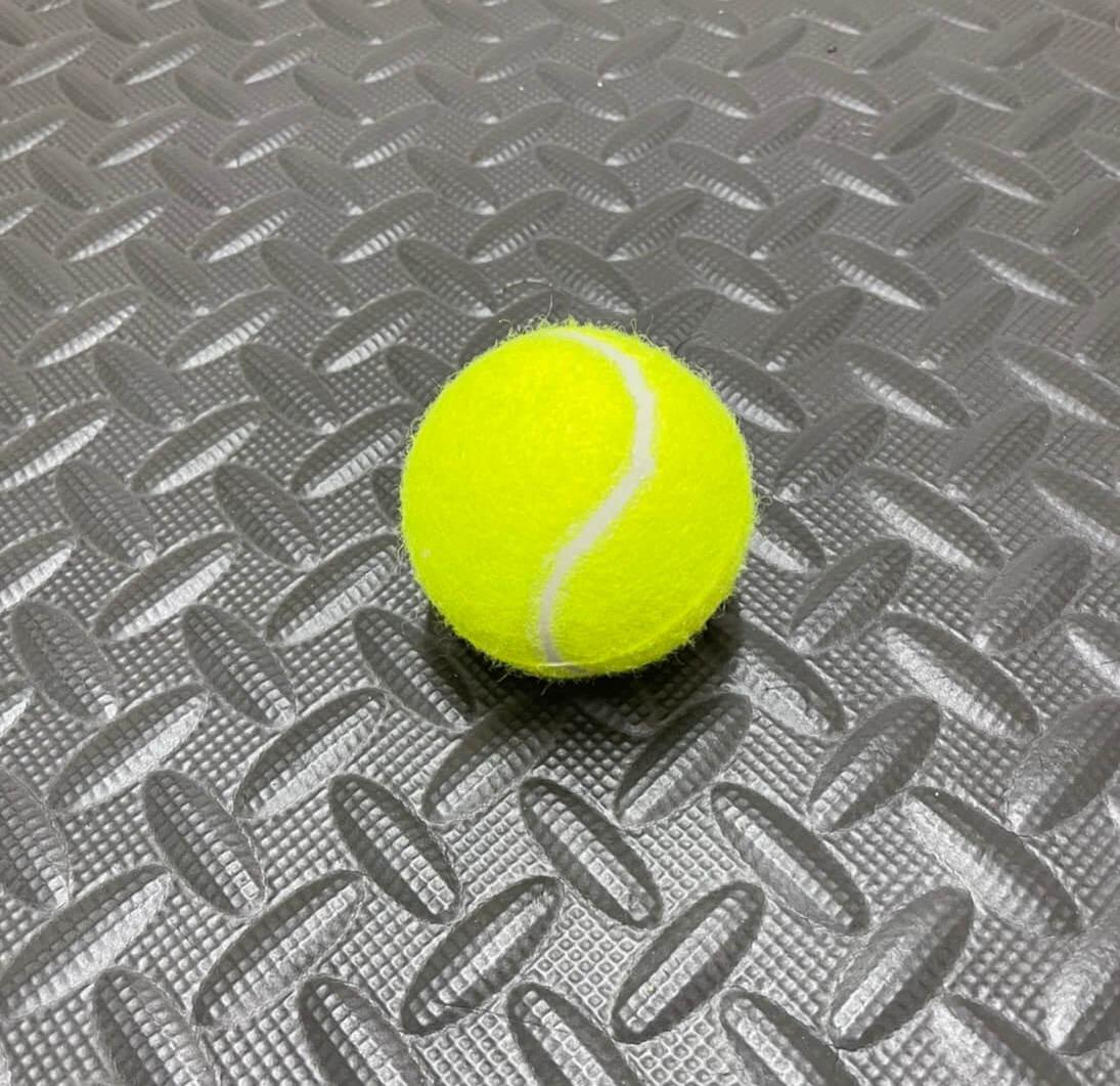 テニスボールで